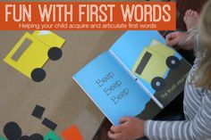 Toddler Approved!: Fun with First Words {Language Activities for Kids}
