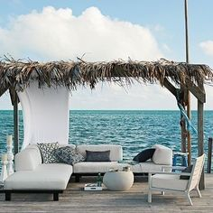 If you are looking for new porches design ideas, we got a full image gallery from top outdoor patios designers. Outdoor Rooms, Outdoor Gardens, Outdoor Living, Outdoor Decor, Indoor Outdoor, Outdoor Furniture, Furniture Ideas, White Furniture, Outdoor Lounge