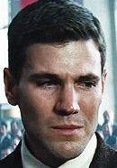 """Austin Stowell as Francis Gary Powers in the Bridge of Spies movie. From """"Bridge of Spies: History vs. Hollywood"""" at http://www.historyvshollywood.com/reelfaces/bridge-of-spies/"""