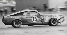 Parnelli Jones - Ford Mustang Boss 302 - Bud Moore Engineering - Wolverine Trans-Am Michigan - 1969 Trans-Am, round 1 - © Gerald Melton Mustang Club, Mustang Boss 302, Mustang Cobra, Ford Mustang, Sports Car Racing, Road Racing, Race Cars, Auto Racing, Vintage Cars