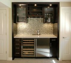 Wet Bar Contemporary Family Room Detroit Forward Designers And Builders For The Home Pinterest Bars