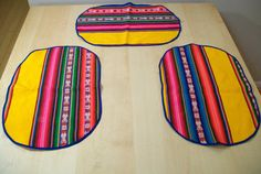 Bright Fun Fiesta Mexican Placemats by thelittlegrasshut on Etsy, $10.00