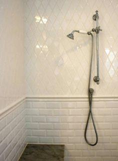 Image result for tile trim on arabesque tile
