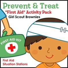Brownies learn to prevent and treat bee stings, bruises, cuts and scrapes, poison ivy and oak, sunburns, and tick bites by referring to a badge-specific first aid guide and using pretend paper first aid kits as they rotate through six first aid situation stations featuring children with various minor and outdoor injuries.