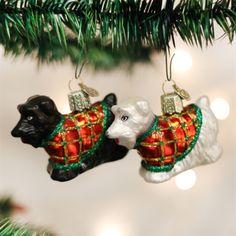 Old World Christmas Scotty Dog Glass Ornament -  Christmas Decorations - Old World Christmas - Putti Fine Furnishings Toronto Canada - 1