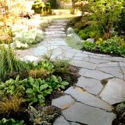 Westcoast Rustic Garden - rustic - landscape - vancouver - Aloe Designs - I like the plants, not so much the rock path