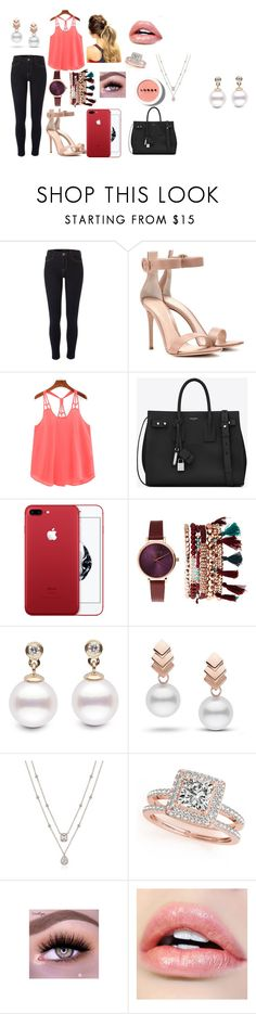 """Sem título #80"" by sarah-hellen-meireles-oliveira on Polyvore featuring moda, River Island, Gianvito Rossi, Yves Saint Laurent, Jessica Carlyle, Escalier, Allurez e LORAC"