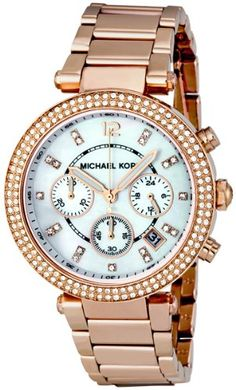 Michael Kors Parker Rose Gold Watch MK5491 *** Read more reviews of the product by visiting the link on the image.