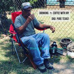 Morning Coffee with my Daddy ☕️❤️☕️ #DallasTexas #DallasPioneerFamily1846 #FloydHomestead