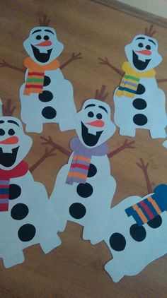 Frozen Party, Winter Theme, Snowman, Christmas Crafts, Crafts For Kids, Bookmark Ideas, Kids Rugs, Crafty, Deco