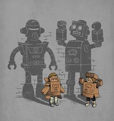 Cardboard Box Robots