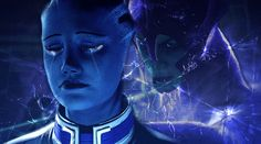 Liara and Benezia, lovely rendering (Memories of Our Mothers by SiwaPyra on deviantART)