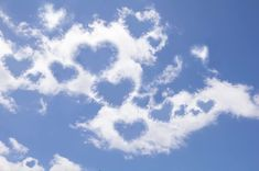 Beautiful clouds with hearts in them. To me it means that God loves us! Heart In Nature, Heart Art, Love Heart, Angel Clouds, Sky And Clouds, Happy Birthday In Heaven, Black And White Art Drawing, Heart Images, Love Wallpaper