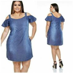 Plus Size Jeans, Vestidos Plus Size, Looks Plus Size, Curvy, Cold Shoulder Dress, Pasta, Dresses, Fashion, Maxi Styles