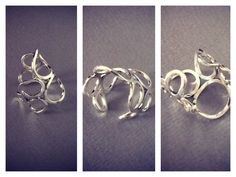 """Sterling Silver Ring - """"Silver Wings"""" Collection Silver Wings, Sterling Silver Rings, Heart Ring, Contemporary, Collection, Jewelry, Jewlery, Sterling Silver Thumb Rings, Jewerly"""