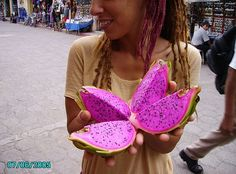 Dragon Fruit! There are a few more photos on this page and some references to growers in Asia.