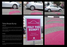 Cool breast cancer awareness idea.