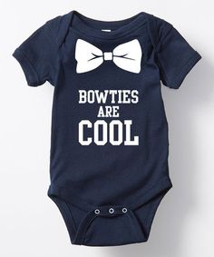 Navy 'Bow Ties Are Cool' Bodysuit - Infant #zulily #zulilyfinds