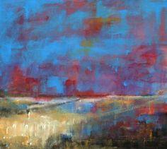 'Landscape & Aura blue'/acrylic/2012  © Cliff Warner