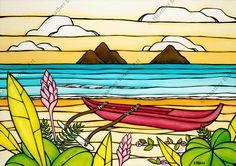 Art Vampire, Vampire Knight, Tropical Art, Tropical Flowers, Tropical Prints, Canvas Art, Canvas Prints, Art Prints, Art Surf