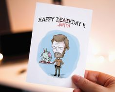 20%OFF Funny Happy birthday - Birthday Card, Printable Birthday Card,  Walking Dead, Rick,  Cute Birthday Card, Birthday Cards, Zombie, Cake by WadaDesigns on Etsy