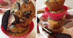 Muffin cu biscuiti Oreo – meniu pentru copii si nu numai   FoodGeek - Retete Culinare Muffin, Oreo, Breakfast, Food, Morning Coffee, Eten, Cupcakes, Muffins, Meals