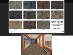"Set In Motion Tile is a Commercial Modular Tile for Heavy Traffic. 1/12 gauge, 17 oz. ColorStrand SDN abstract pattern with fragmented shapes. Set In Motion tile is unique, yet appeals to the masses.   Installation Options: Quarter Turn, Brick Ashlar, Vertical Ashlar, Multi Directional, and Monolithic.  Tile Size: 24"" x 24"" 11 Colors - Linear Pattern  Price: US$2.40 per Sq. Ft.  To order, please call at 305-945-2973 or Email to leo@americarpetfloors.com"
