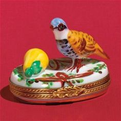 Limoges 1 Partridge in a Pear Tree Box Limoges Boxes France
