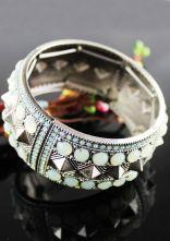 Vintage Silver Rivet Bracelet $9.64 #SheInside