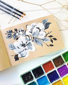 Watercolor Journal, Watercolor Art, Salt Painting, Gouache Painting, Flower Of Life, Flower Art, Landscape Paintings, Canvas Paintings, Jackson's Art