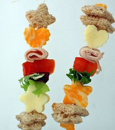 Remove the bread, or replace with GF bread...sandwich kabobs- kids lunch