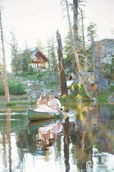 Canoe At Wedding
