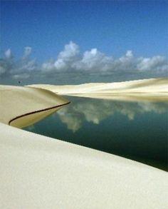 Lençois Maranhenses, Brazil The Lençóis Maranhenses National Park (Parque Nacional dos Lençóis Maranhenses) is located in Maranhão state, in northeastern Brazil, just east of the Baía de São José