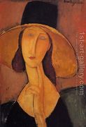 Jeanne Hebuterne in a Large Hat  by Amedeo Modigliani