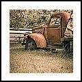 Old Red Farm Truck Framed Print by Edward M. Fielding - https://pixels.com/featured/old-red-farm-truck-edward-fielding.html