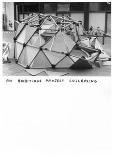 'An Ambitious Project Collapsing' by David Shrigley