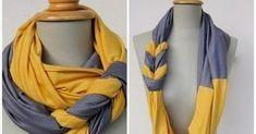 Apprenez à recycler vos vieux vêtements en écharpe bicolore!