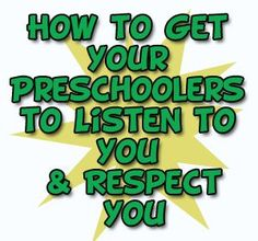 Getting preschool children to listen to you & RESPECT you with some positive results.. http://www.preschoollearningonline.com/preschool-articles/how-to-get-preschoolers-to-listen.html  #preschoollearning  #teachkids