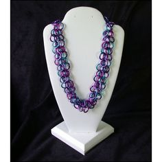 Items similar to Fringe Chain Maille Necklace in Anodized Aluminum - Available in different color schemes on Etsy Chainmaille, Shaggy, Different Colors, Color Schemes, Crafting, Trending Outfits, Unique Jewelry, Handmade Gifts, Etsy