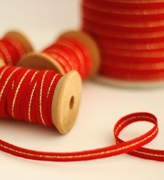 Metallic Line * Tight weave Cotton ribbon from Angela Liguori - perfect for Christmas wrapping!