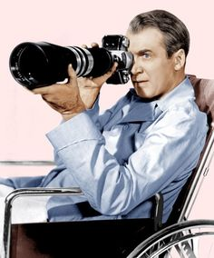 Rear Window, James Stewart, 1954 Canvas Print / Canvas Art by Everett