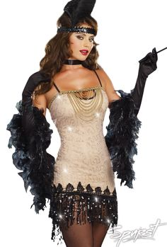 Adult Lindy and Lace Flapper Costume - Party City | Autumn ...