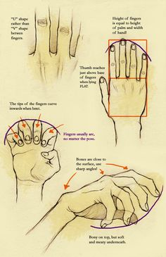 How to draw hands - this is awesome.