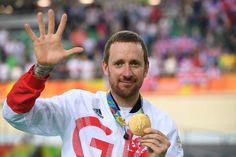 Phelps set for golden goodbye as Bolt begins Olympic quest:  August 13, 2016  -      Gold medallists Britain's Bradley Wiggins poses on the podium after the team pursuit finals, during the Rio 2016 Olympic Games, on August 12