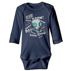 NINJOE NewBorn Boys  Girls Zim Gir Cartoon Doom Long Sleeve Bodysuit Baby Onesie Navy 18 Months >>> To view further for this item, visit the image link.