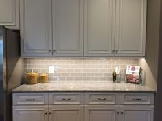 Country Cottage Light Taupe 3x6 Glass Subway Tiles | Subway tile ...