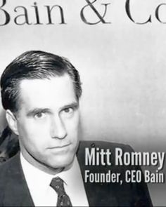 Mitt Romney ~ President Of Bain Company Who Funneled Money For NWO Through Their Banking System
