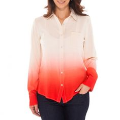 Button Front Ombre Top