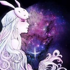 We are Magic... Art by #ChiaraBautista #Xanadu #Galaxy #Stars #BunnyGirl #Trippy
