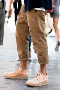 Floral Prints at Pitti Uomo love this style men fashion streetstyle